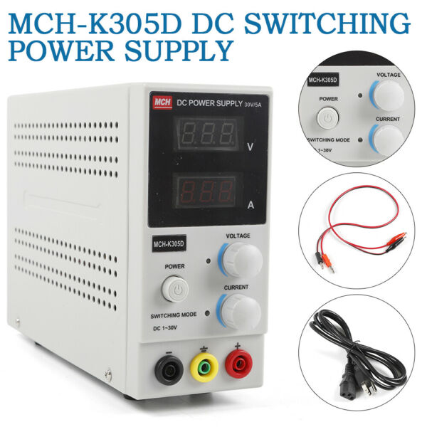 Adjustable Variable digital display Switching DC Power Supply 0-30V 5A 110V fast