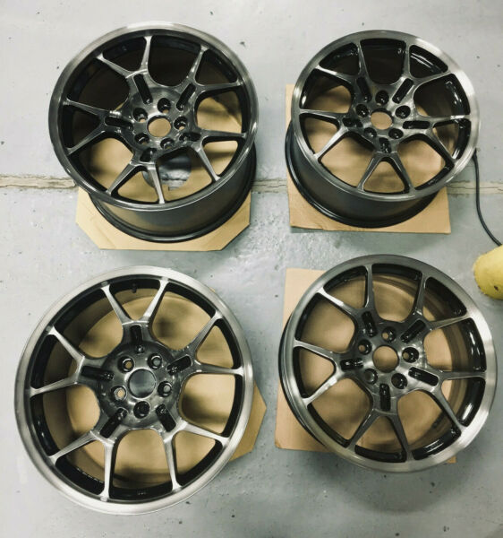 05-06 Ford GT GT40 OEM BBS Wheels 18x9 19x11 10-Spoke Machined Face Tinted Clear