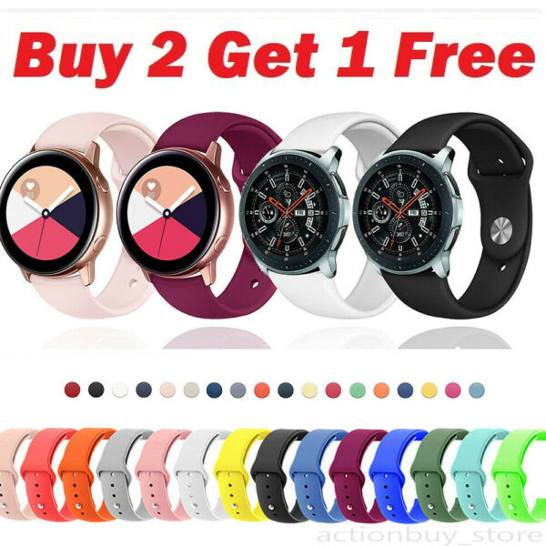 US For Samsung Galaxy Watch Active 2 40 42 44mm Watch Band Silicone Sport Strap $6.74