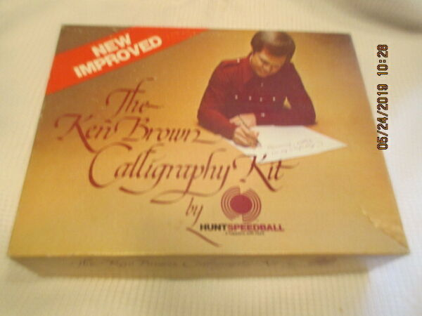 Calligraphy Lot Sheaffer Pen set Ken Hunt SPEEDBALL Keuffel Esser fountain book