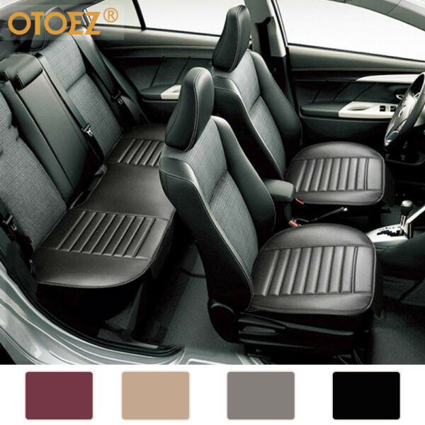 Universal Leather Car Seat Cover Full Surround Front Rear Back Cushion Protector $28.95