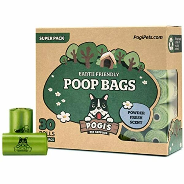 Pogis Poop Bags 30 Rolls 450 Dog Bags Scented Leak Proof Earth Friendly $24.43