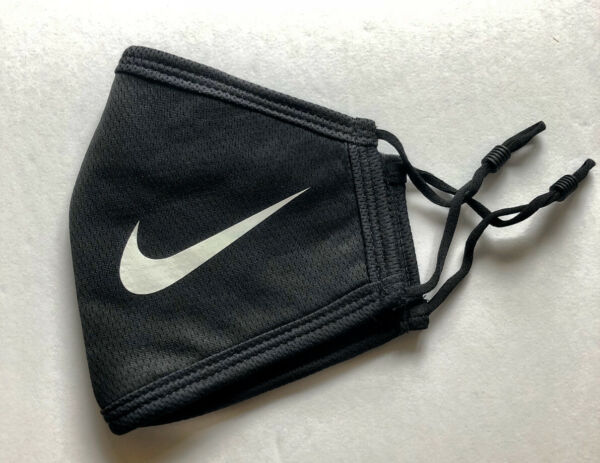 Brand New Nike Face Mask Thick Double Layered Cotton w 2 Bonus Civilian Masks