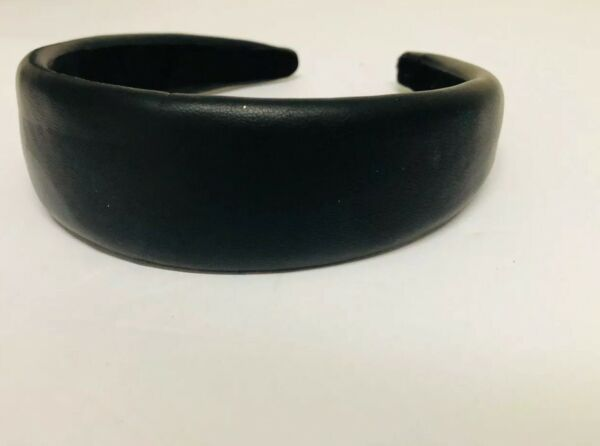 NWD ZARA PADDED HEADBAND BLACK  FAUX LEATHER PARTY CASUAL SEXY M #1253jd Read!!!