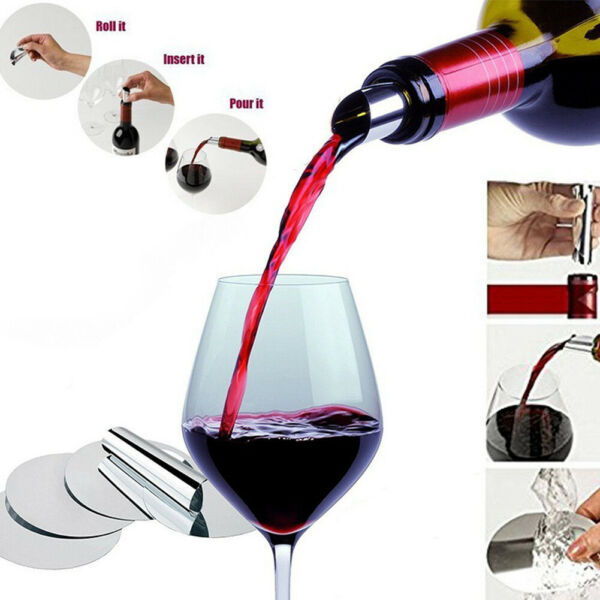 Party Drop Stop Bar Supplies Wine Pourer Pouring Disk Drip Home Use