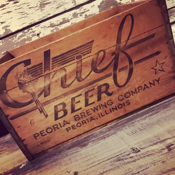Super Rare Vtg 1950's CHIEF BEER Wood Crate-Hard to Find-Indian! Peoria IL