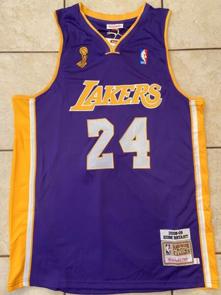 Kobe Bryant #24 Los Angeles Lakers Throwback Championship Jersey