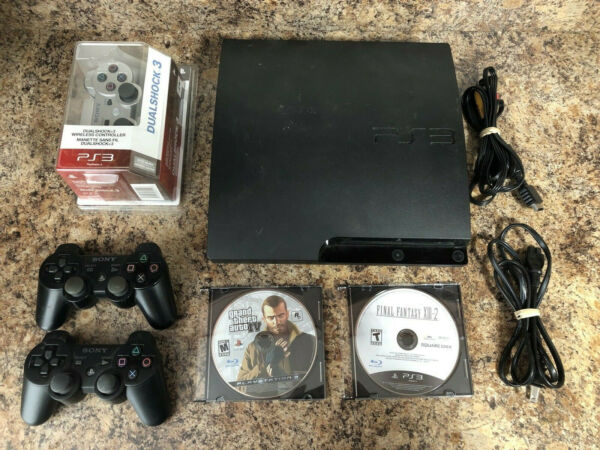 PlayStation 3 (PS3) - 160 GB - Two Games - New DualShock 3 Controller