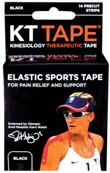 Kinesiology Therapeutic KT Tape Elastic Sports Tape 14 Count Black WA55999 $8.98