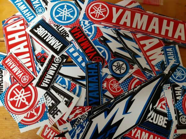 Lot Set of 10 Yamaha Style Stickers Racing Motorcycle Motocross YZ YZF R1 R6 M1 $5.99