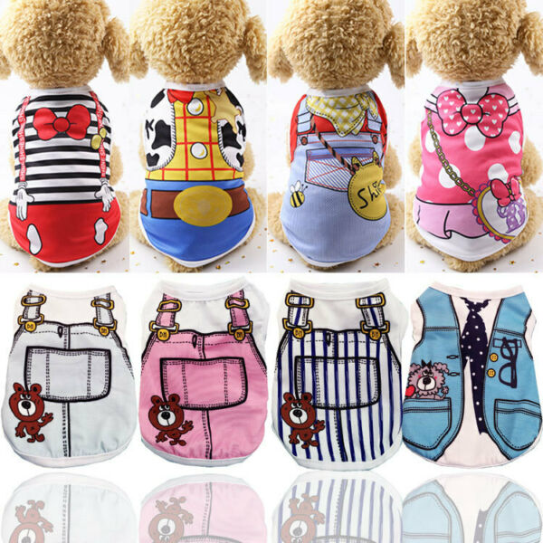 Small Dog Clothes Pet Puppy Costume Dog Cat Apparel Vest 17Color XXS XL $6.69
