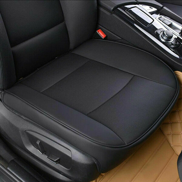 PU Leather Car Interior Seat Cover Protector Cushion Front Cover Universal Black $25.99