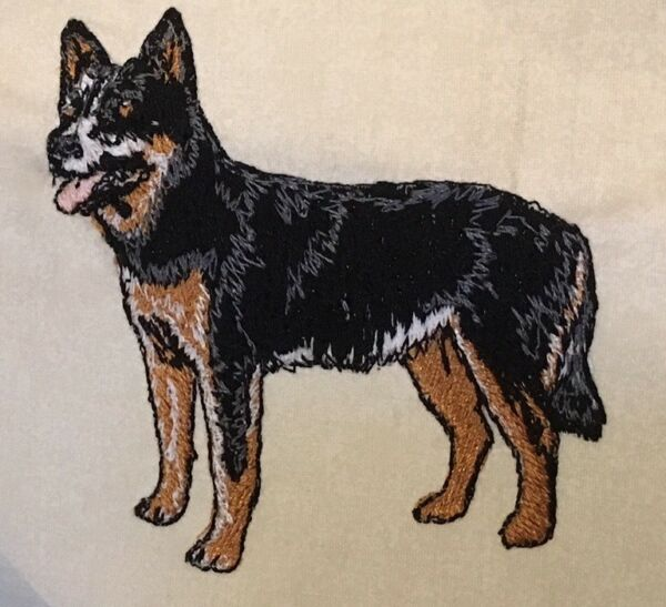 Australian Cattle Dog Hand Towel Embroidered Custom Personalized Dog $12.55