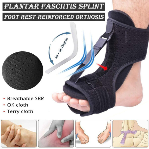 Adjustable Plantar Fasciitis Night Splint Foot Drop Orthotic Brace Night Splints