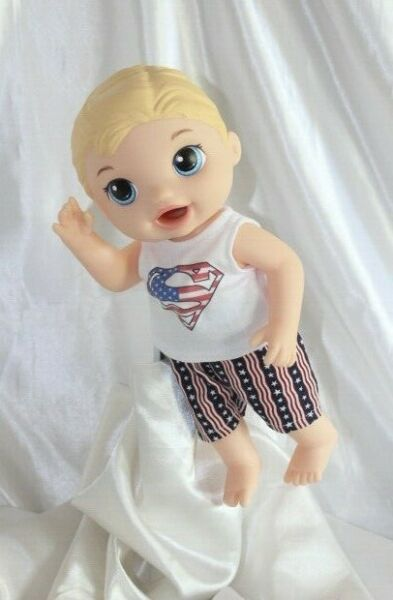 Boy Doll Clothes fits 12 inch Baby Alive Dolls T-Shirt Pants Superman