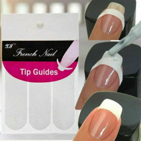 French Tip Guides Sticker Manicure Stripe Edge Nail Art Decoration DIY $2.29