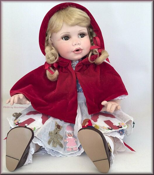 Marie Osmond Little Red Riding Hood Once Upon a Dress Toddler Doll Porcelain 15