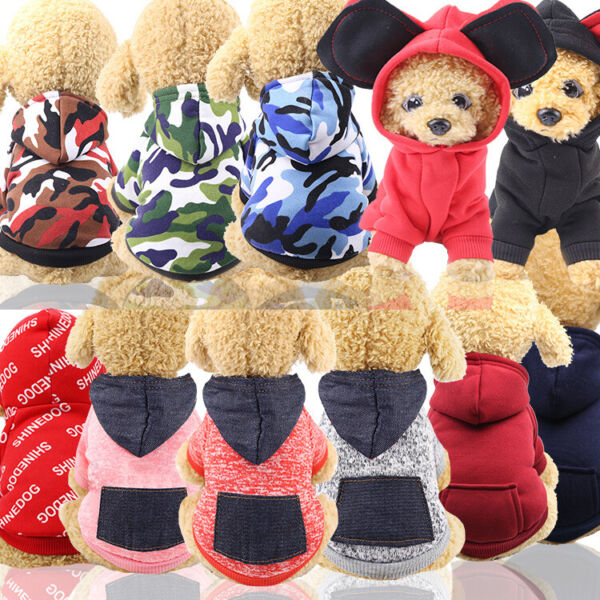 4Legs Pet Dog Clothes Cat Puppy Coat Winter Hoodies Warm Sweater Jacket Clothing $9.69