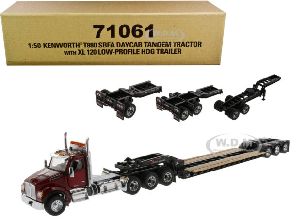 KENWORTH T880 SBFA W XL 120 TRAILER amp; 3 ACCESSORIES 1 50 DIECAST MASTERS 71061 $133.99