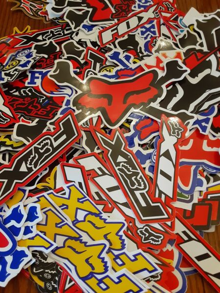 Lot Set of 10 Fox Racing Stickers Decals Racing Motorcycle Motocross ATV UTV