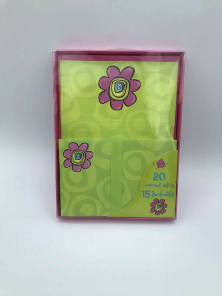 NEW Flower Stationary Set 20 Sheets 15 Envelopes 35 Pieces total $2.75