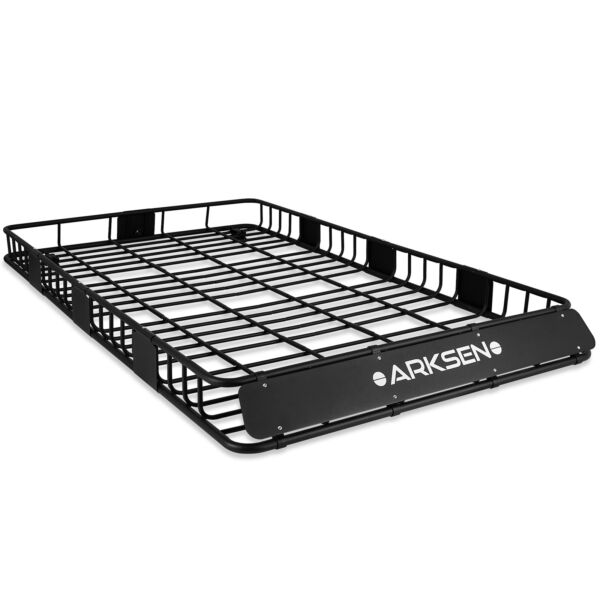 84quot; x 50quot; x 6quot; Black Roof Rack Heavy Duty Top Luggage Cargo Carrier $289.96