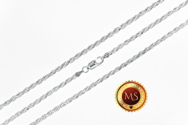 3mm Italy 925 SOLID Sterling Silver Diamond Cut ROPE Chain Necklace or Bracelet $37.99
