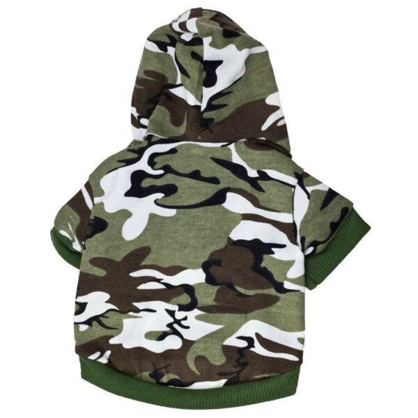 Cute Small Dog Clothes Pet Puppy Camouflage Hooded Dog Cat Apparel $8.69