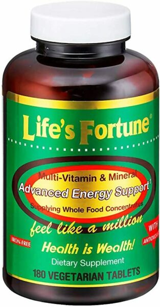 Life's Fortune Multi Vitamin Mineral Natural Energy 180 same day ship