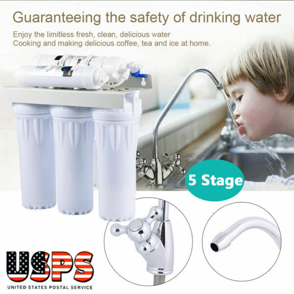 6 Stages Under Sink RO Reverse Osmosis Drinking Water Filter Purifier System