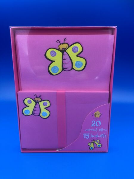 NEW Vintage Butterfly Stationary Set 20 Sheets 15 Envelopes 35 Piece $2.75