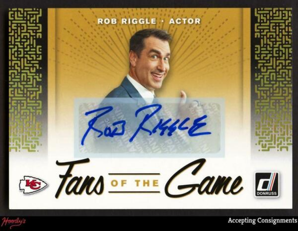2019 Donruss Fans of the Game Autographs #2 Rob Riggle CHIEFS ACTOR AUTO