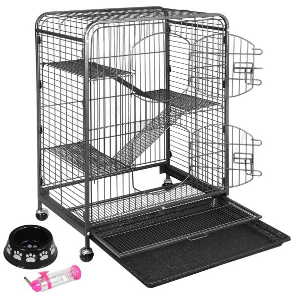Durable Ferret Cage Rabbit Chinchilla Rat Cage Small Animal Play House 37quot;