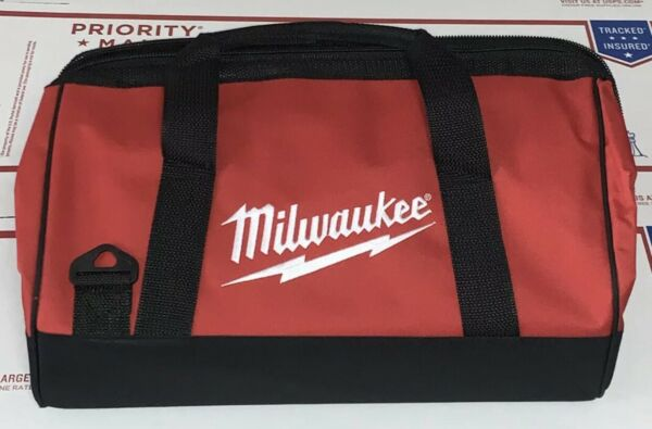 Milwaukee 16-inch Tool Bag Heavy Duty Canvas Contractor Case M12 M18 (16x12x10)