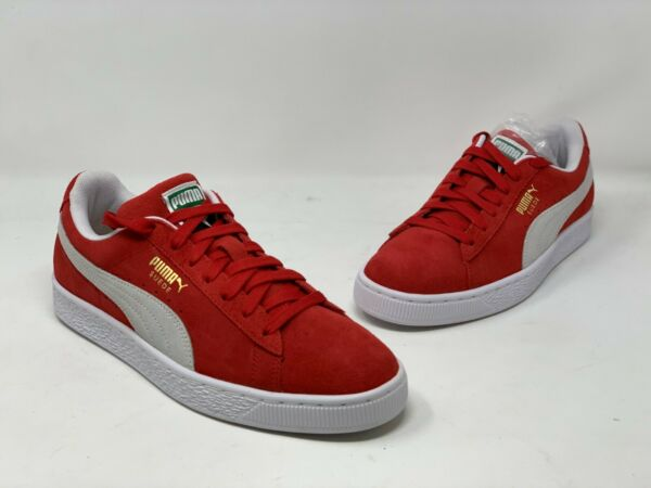 Puma Suede Classic High Risk Red 352634 65 Mens Casual Sneakers Size 9.5