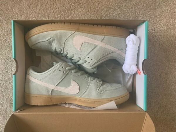 Nike SB Dunk Low Jade Horizon/Island Green (Size 10.5) WORN ONCE, WITH BOX