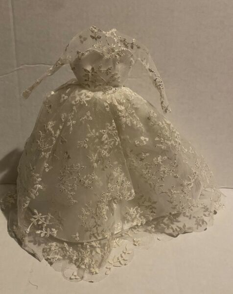 BARBIE~VINTAGE REPRODUCTION WEDDING DRESS~LONG SLEEVE~