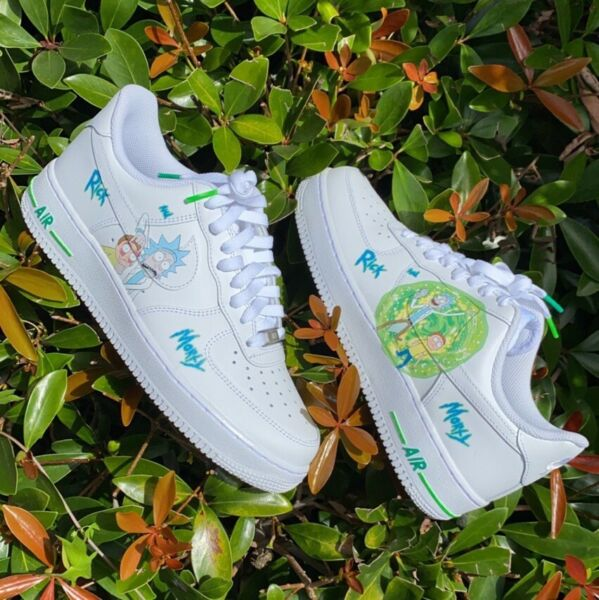Rick And Morty Custom Air Force Ones 🧪