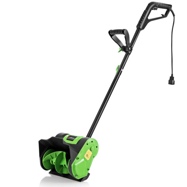 12Inch 9 Amp Power Electric Corded Snow Shovel Driveway Yard Snow Thrower Green