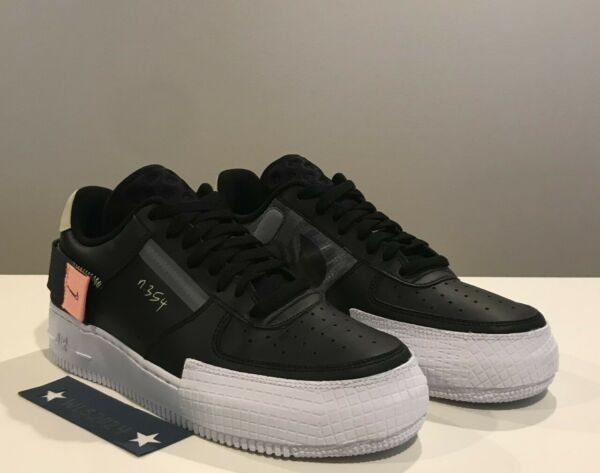 Nike Air Force 1 Type N.354 Low Shoe - Blk/Anth/Zinnia/Wht - Men's 9 #CI0054 001