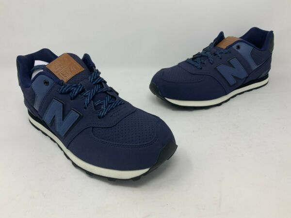NEW BALANCE KL574YTG  NAVY SUEDE SNEAKERS   BOYS/ MEN'S  Size 6