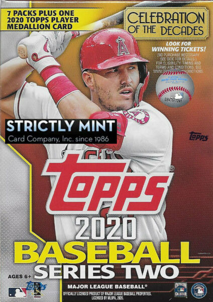 2020 Topps Baseball Series 2 Blaster Box EXCLUSIVE COIN Medallion Possible AUTOS