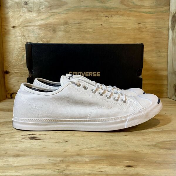 Converse Jack Purcell White Canvas Low Top Shoes Men's 10.5 / Women's 12.5