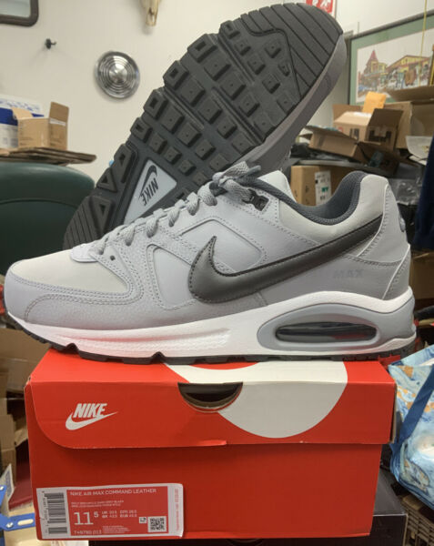 NEW Nike Air Max Command Leather 749760-012 Men 11.5 Shoes Trainer Sneakers Grey