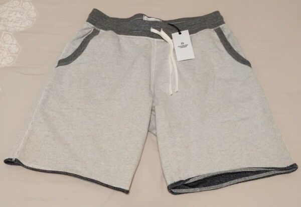 REIGNING CHAMP Drawstring French Terry Shorts Winter white size large New $60.00