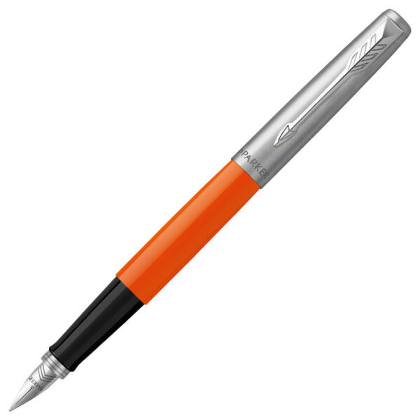 Parker Jotter Fountain Pen Original Orange with Chrome Trim Medium Point NEW
