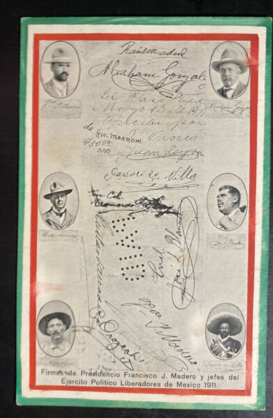 1913 Mexico Picture Postcard Cover to Landskron Austria Army Signatures