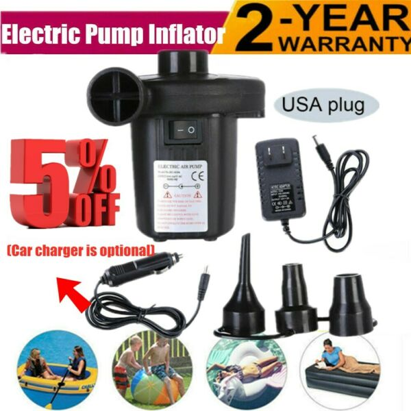Electric Air Pump for Inflatables Pool Air Mattress Air Bed Toy Raft Boat 110v $111.98