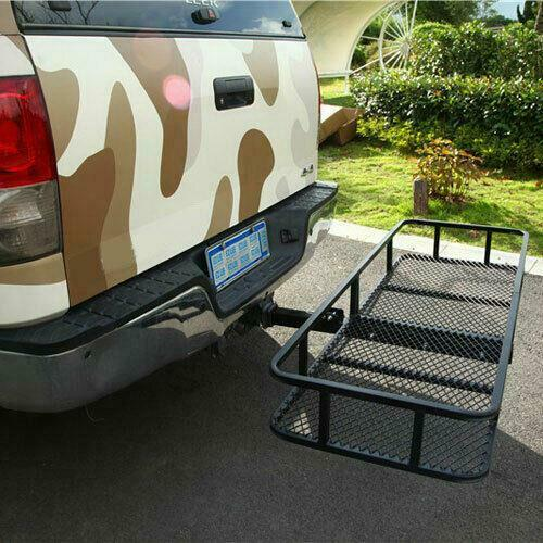 60quot; Folding Cargo Carrier Hauler Hitch Mounted Receiver Luggage Basket 500 lbs $99.48