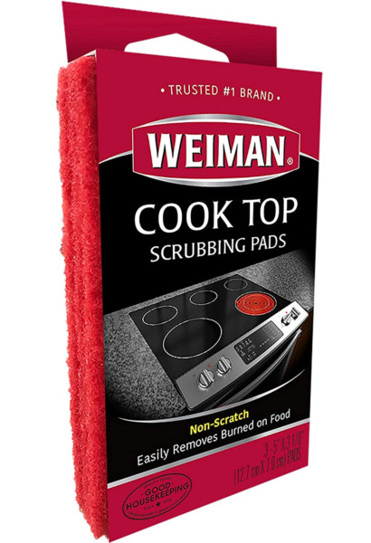 Weiman Cook Top Scrubbing Pads Glass Cleaning Stove Top Kitchen Cleaner Polish.